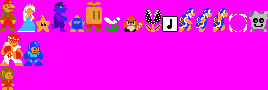 Various sprites in SMB1 style by legorulez49