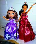 Princess Sofia And Princess Elena Dolls by YesiEguia