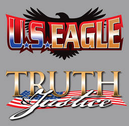 US Eagle Truth and Justice logos by justicefrog