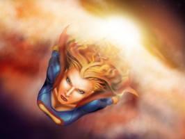 SuperGirl fan art :) by Alias-Jorel