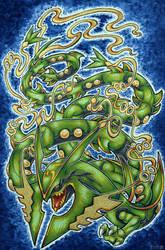 Mega Rayquaza by Skudde