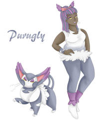 Human Purugly by wolf13sd