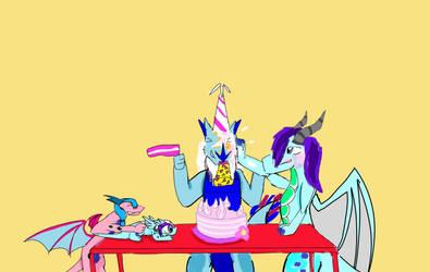 A verry late birthday bash  by NadleehWolfDragon000