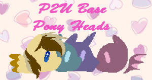 [P2U Base] Pony Heads by Jeanify
