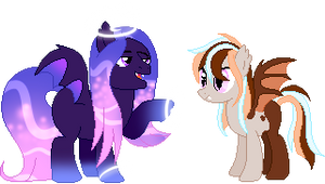 My Unnamed Bats (Looking for name suggestions!) by Jeanify