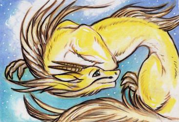 ACEO: Golden Skies by vladimirsangel