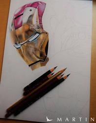 Iron Man WIP I by Vermeerschdrawings by Martin--Art