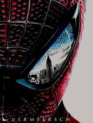 The Amazing Spiderman eye detail by Martin--Art