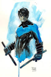 Nightwing commission by RodReis