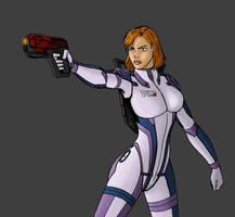 Commander Adara Shepard by DarthVandola