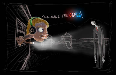 Pewdie and Slender The Arrival by candlejack1