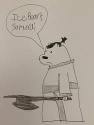 Ice Bear cosplay as Samurai Jack by fjbdfhhdgfuigffgxjhb