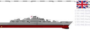 Belfast class Cruiser by Davinci975