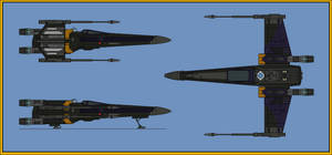 T-65 XJj3 X-wing fighter Jaina Solo by Davinci975
