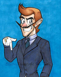 Waluigi the Lawyer by ElectricPoodle