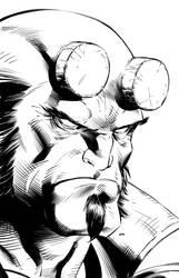 Hellboy inks by JPRart