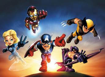 Marvel Superhero Squad by JPRart