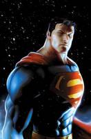 Superman snowfall by JPRart