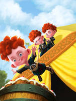 Brave Triplets by JPRart