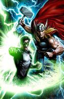Thor-Green Lantern by JPRart