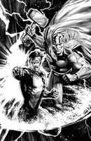 Thor-Green Lantern Lineart by JPRart