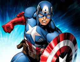 Avengers Assemble Captain America by JPRart