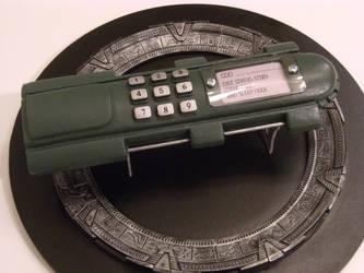 Stargate SG-1 GDO and Gate Display Base by Brashsculptor