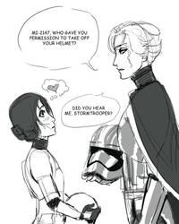 MIRA stormtrooper meets Captain Isabella by StrawberryLoveU