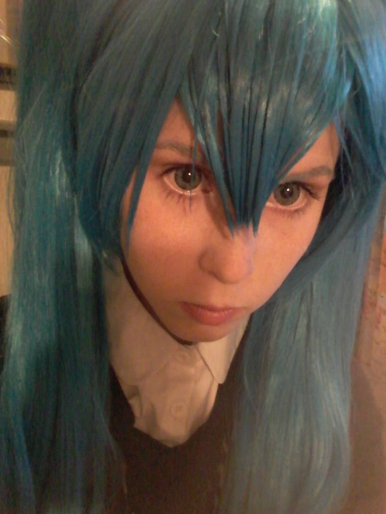 Miku cosplay makeup test! by ButHeichouuuuuuuuu