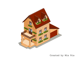 Pixel Art. Isometric. House 1 by MimiMiaART