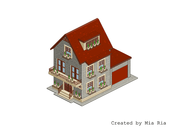 Pixel Art. Isometric. House 2 by MimiMiaART