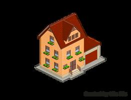 Pixel Art. Isometric. House 3 by MimiMiaART