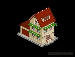 Pixel Art. Isometric. House 4 by MimiMiaART