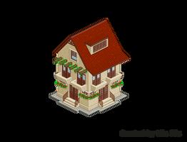 Pixel Art. Isometric. House 5 by MimiMiaART