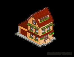 Pixel Art. Isometric. House 7 by MimiMiaART