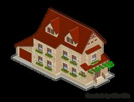 Pixel Art. Isometric. House 10 by MimiMiaART