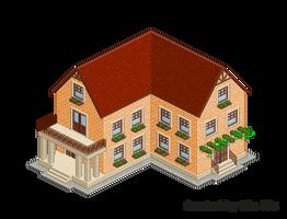 Pixel Art. Isometric. House 12 by MimiMiaART