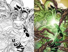 Green Lantern Corps #29 Cover by JavierMena