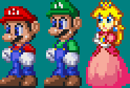 Marios Sonic 3 Style and Peach by akumath