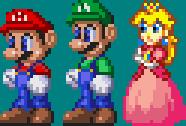 Marios Sonic 3 Style and Peach by akumath