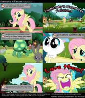 Fluttershy's Job - Screenshot Comic by akumath