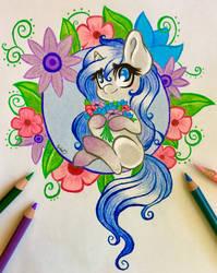 Pony 'n Petals by EmbersLament