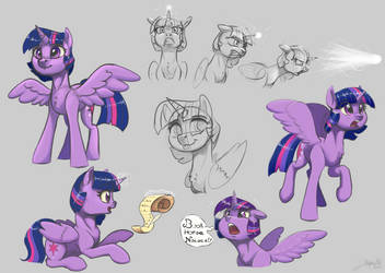 Twilight Sparkle Sketchdump by SilverHopeXIII