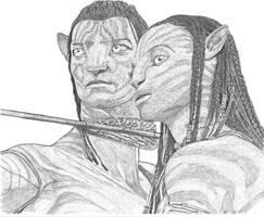 Jake and Neytiri by Palukanu