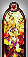 ASGORE - Undertale Stained Glass by OH-DEAR-ITS-POOR
