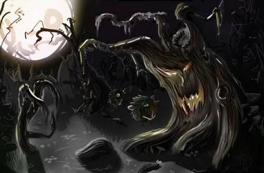 evil tree by DHaiku