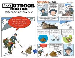 NZ Outdoor - Homage to Tintin by eRiQ