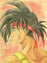 Bardock Father of Goku by SaramedaHakte