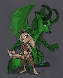 Demon Hunter Nick and Paladin Judy by Caliosidhe