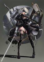 Nier Automata 2B Color Version 001 by MoonMoon0914